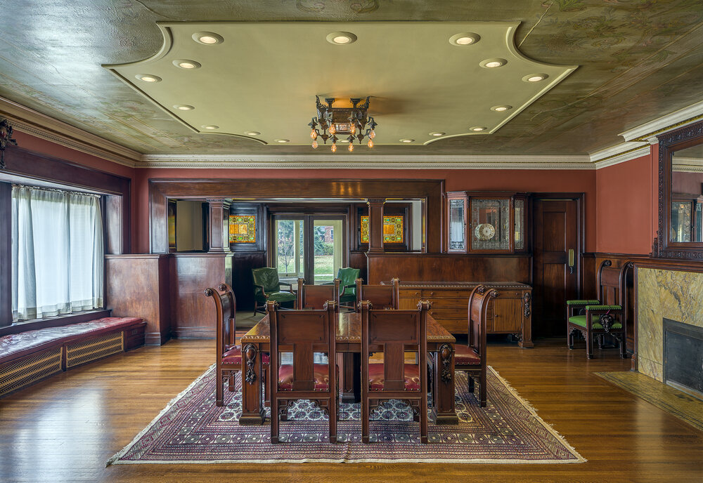 View of the dining room at Pleasant Home